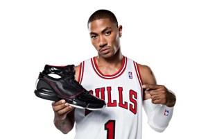 Derrick Rose shilling sneakers